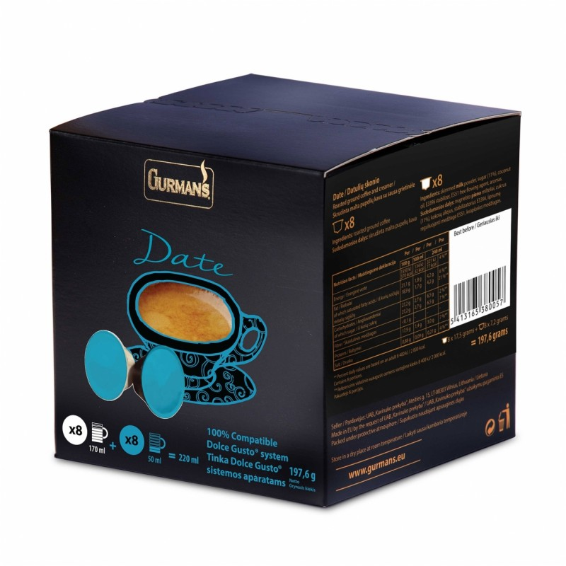 DATE Dolce Gusto Coffee capsules